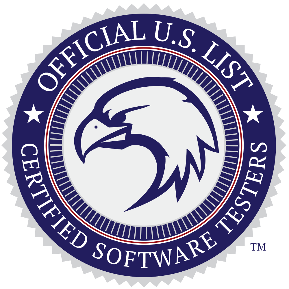 Logo for Official US List of Certified Testers